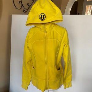 Lululemon Scuba Hoodie Yellow SZ 8